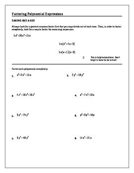 Algebra 2 Tutorial: Factoring Polynomial Expressions