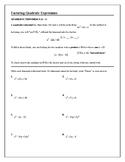 Algebra Tutorial & Worksheets: Factoring Quadratic Expressions