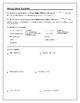 Algebra Tutorial & Worksheets: Solving Linear Equations