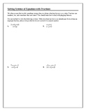 Solving Algebraic Equations With Fractions Worksheets ...