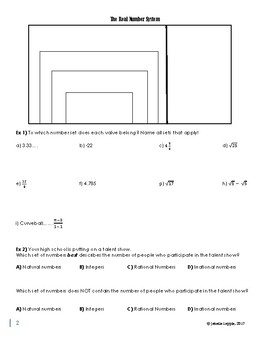 Expressions, Equations & Inequalities (Alg 2 Unit 1 Guided Notes & Assessments)