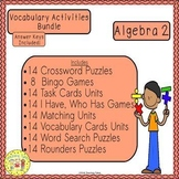 Algebra 2 Vocabulary Activities