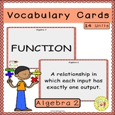 Algebra 2 Vocabulary Cards
