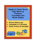 Algebra 2 Warm-up Problems
