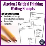 Algebra 2 Writing in Math Prompts