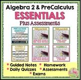 Algebra 2 and PreCalculus Essentials Plus Assessments (A C