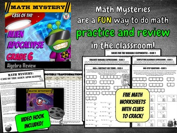 6th Grade Algebraic Equations Review - Exponents ...