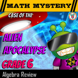 6th Grade Algebraic Equations Review - Exponents, Expressions- Distance Learning