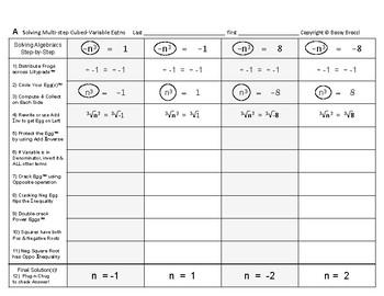 Algebra 22: Solving Multi-Step Cubed-Variable Equations