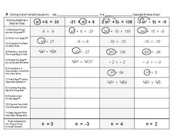 Algebra 23: Solving Cubed-Variable Equations
