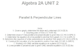 HS Algebra 2A UNIT 2: Parallel & Perpendicular Lines (5 wrkshts;7 quizzes)