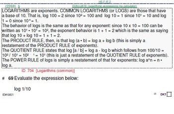 HS [Remedial] Algebra 2B Sampler: (textbook-less course)-37 pgs