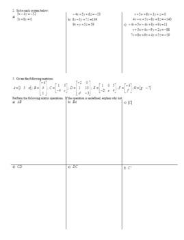 Algebra 2H 4.12 Reduced Row Echelon Form Spring 2017 (Editable)