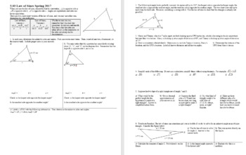 Algebra 2H 5.03 Law of Sines Spring 2017 (Editable)