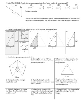 Algebra 2H 5.05 Law of Cosines Solving for Angles Spring 2017 (Editable)