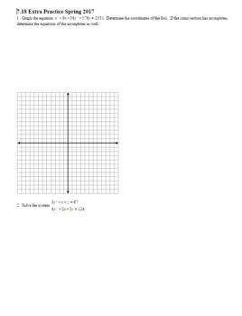 Algebra 2H 7.18 Extra Practice Spring 2017 (Editable)