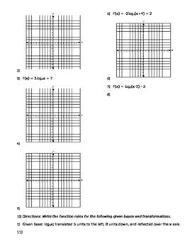 Algebra 2b - week 4 review