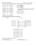 Algebra 3 Domain and Range, Graphing points, naming quadra