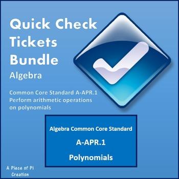 Polynomials Formative Assessment Quiz Bell Work Exit Tickets Bundle FOIL