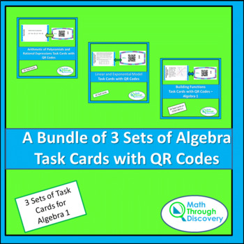 Algebra 1:  A Bundle of 3 Sets of Task Cards