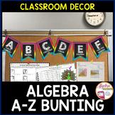 Algebra ABC Bunting Classroom Decor