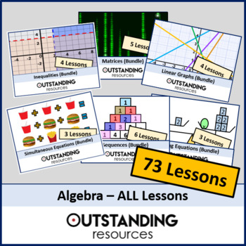 Algebra: ALL Lessons (64 Lessons) + ALL Resources