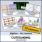Algebra MEGA BIG BUNDLE (65 Lessons) + ALL Resources