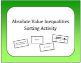 Algebra: Absolute Value Inequalities Card Sort