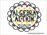 Algebra Action Folder Game {balancing equations & solving for x}