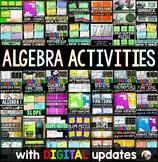 Algebra Activities Bundle w/ GOOGLE updates for distance learnig