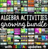Algebra Activities Bundle with digital updates