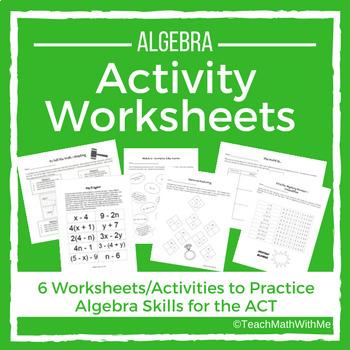 Algebra Activity Worksheets - ACT Prep