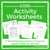 Algebra Activity Worksheets - ACT Prep