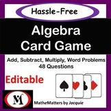 Algebra: Add, Multiply, Distributive Property {EDITABLE }