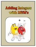 Pre-Algebra: Adding Integers with M&M's Activity