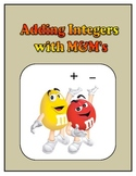Pre-Algebra: Adding Integers with M&M's Activity