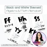 Algebra Alphabet Poster Black and White (Easy Printing)