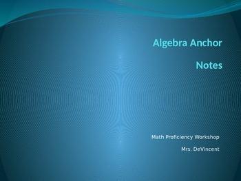 Algebra Anchor Notes