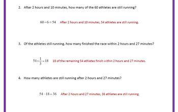 Algebra Applications (Word Problems): NYC Marathon