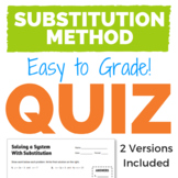 Solving a System of Equations with Substitution Quiz