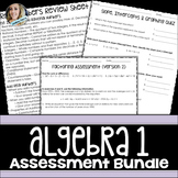 Algebra 1 Assessments Bundle
