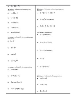Algebra Assignment