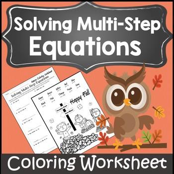 Fall Algebra I Activities {Autumn Algebra 1 and 2 Activity Worksheet}
