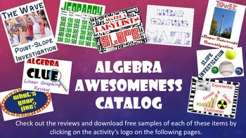 Algebra Awesomeness Warehouse Catalog