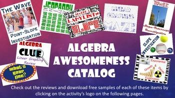 Algebra Awesomeness Warehouse Catalog