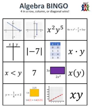 Algebra BINGO!