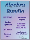 Algebra BUNDLE (Expressions & Equations Domain)