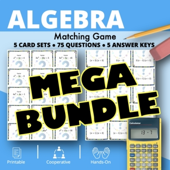 Algebra BUNDLE: Matching Games