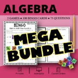 Algebra BUNDLE: Math Bingo Review Games