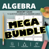 Algebra BUNDLE: Math Memory Games